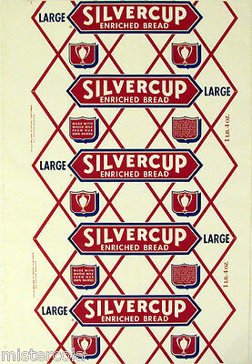 Vintage bread wrapper SILVERCUP LARGE Detroit Chicago New York new old stock