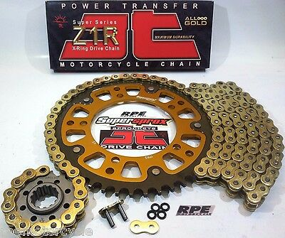 GSX-R1340 '08/16 HAYABUSA SUPERSPROX JT GOLD CHAIN AND SPROCKETS KIT *OEM,QA,Fwy