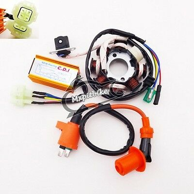 Racing Ignition Coil Magneto Stator CDI For ATV Moped Scooter GY6 125cc 150cc