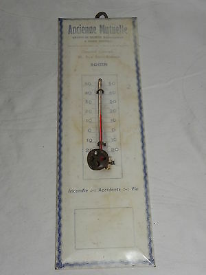 Thermoreclam Thermometer Ancienne Mutuelle Aus Blech