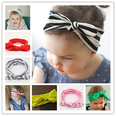 Baby Knotted Knot Bow Bunny Ear Headband Infant Newborn Baby Girl Toddler
