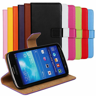 For Samsung GALAXY S4 Active Genuine Leather Wallet Flip Cover Case