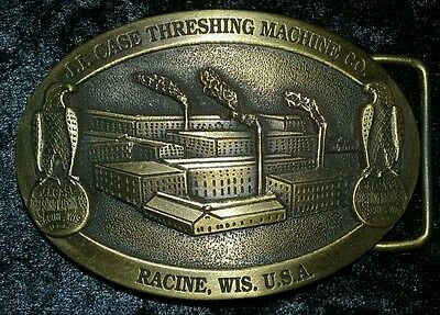Rare Sample Case Threshing Machine Belt Buckle Collector LE # Belt Buckle