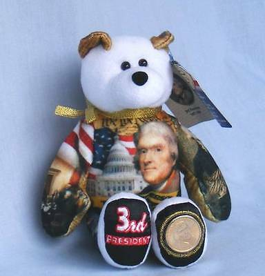 Limited Treasures  Thomas Jefferson Dollar Coin Bear  #3