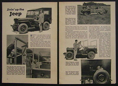 Willys Ford Army Jeep Conversions 1946 post WWII vintage pictorial