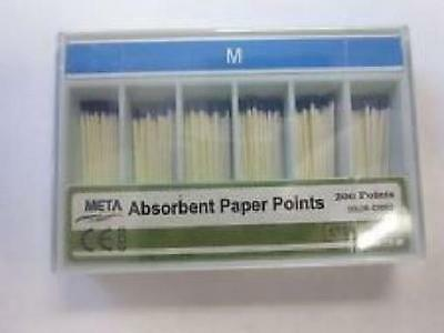 Meta Absorbent Paper Points Medium Color Coded 200/pack
