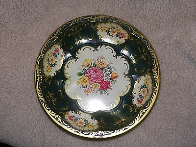 "DAHER DECORATED WARE METAL SERVING BOWL 10"" METAL DAHER BOWL FLORAL PRINT"
