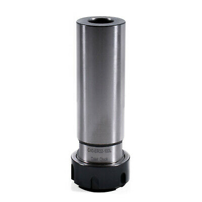 New C40 ER32 100L Straight cylinder Shank Collet Chuck  CNC Extension toolholder