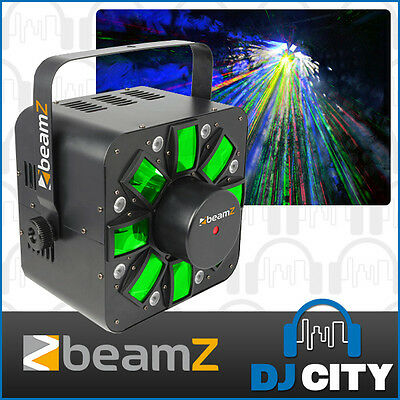 Beamz MultiAcis-III LED DJ Light with Bright Multi Strobe Effect and Red, Gre...