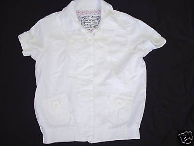 Approx 13/14 Yrs-Girl's White Short Sleeve Jacket  (R9.18)