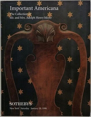 Meyer Collection of American Antique Furniture - Sotheby's Catalog