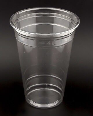 100 PET Clear Cup 16 oz, 450-500ml, glasklar, Clearcups Cocktailbecher