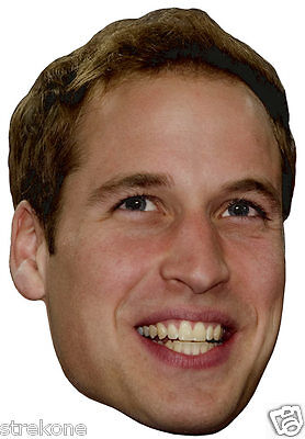 """""""PRINCE WILLIAM"""" British Royal Family Big Head  - Window Cling DECAL Sticker NEW"""
