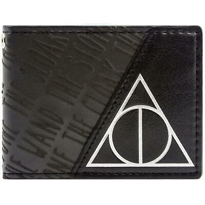 New Official Cool Harry Potter Deathly Hallows Black Symbol Bi-Fold Wallet