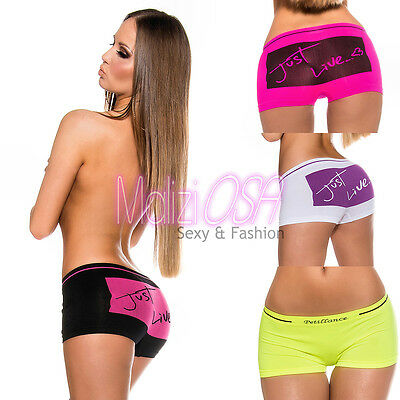 Shorts pantaloncini Donna corti FLUO hot pants Mare Palestra Culottes Fitness