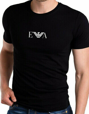 EMPORIO ARMANI Men's cotton Muscle EA T-shirt in Black - Slim Fit -Size M L XL 7