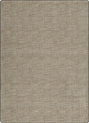 Stitches Silvered Taupe Milliken Cut Pile Pattern Area Rug Many Sizes