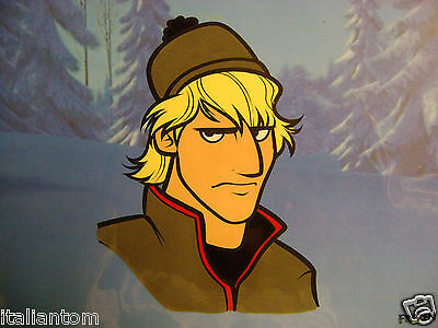 Hand Painted Handpainted Frozen Disney Kristoff Elsa Olaf Animation Cel Cell Art