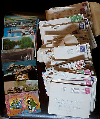 Postmarked Letters & Postcards, w/ Greeting Cards & Correspondence, 1951-1961
