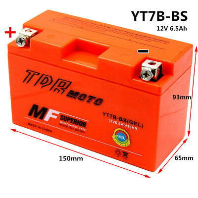 Motorcycle Atv Battery Yt7B4  Yt7B-Bs Sealed Agm Suzuki Drz400 Yamaha Ttr250