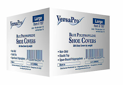 VersaPro 300 Shoe Covers non-skid / Medical Booties LARGE (to Men's Size 10)