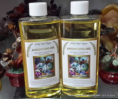 2 Anointing Oil from Israel, Frankincense, Myrrh  250 ml, 8.45 oz EXCLUSIVE !