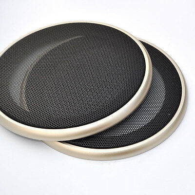 """Universal 6.5"""" Speaker Coaxial Steel Sub Mesh Grills Cover Gold Woofer Cover"""