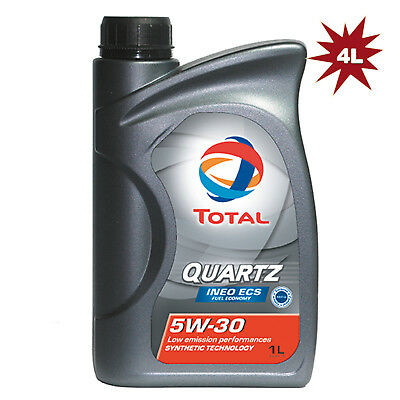 Total Quartz Ineo ECS 5W30 Engine Oil - 4x1L=4L