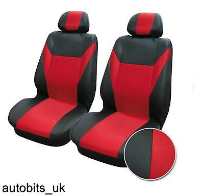 Red Black Fabric Front Seat Covers For Renault Clio Megane  Laguna Scenic