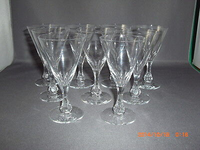 9 Vintage Orrefors Crystal Coronation Pattern Liqueur Cordial Glasses Scarce