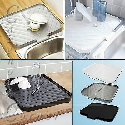 Plastic Dish Drainer Tray. Large Sink Drying Rack. Worktop Dish Drainer.