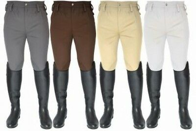 Mark Todd Mens Performance Breeches,Grey,Flat Front/Euro Seat,All Sizes