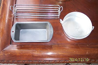 """Small Loaf Pan 5 3/4 by 3, Round 5.5"""", Rack for spices 8 3/4"""" by 2"""""""