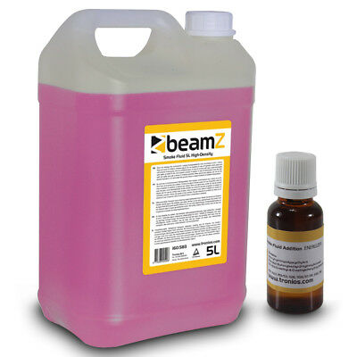 Beamz Smoke Fluid High Quality 5 Litre Pink + Energizer Liquid Scent