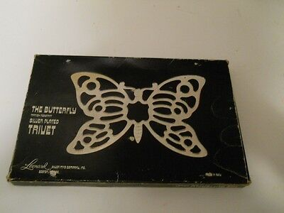 Silver Plated Butterfly Trivet from Leonard Silver Mfg. Co. NEW