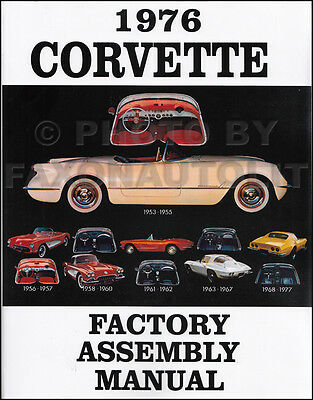 1976 Corvette Factory Assembly Manual 76 Exploded Views of Parts Chevrolet Chevy