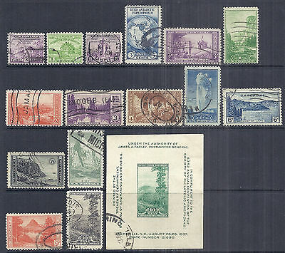 US Used Farley National Parks Set & SS - 727-729, 733, 739, 740-749, 797 Used