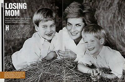 Prince William & Harry and Princess Diana  (1 page)  1997 Picture Clipping   /Bm