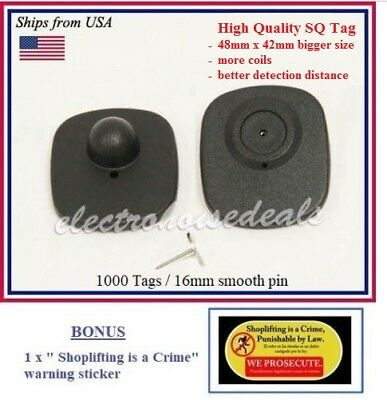 BONUS : 1000 pcs RF 8.2 MHz Hard Tag CHECKPOINT ® compatible Anti Theft System