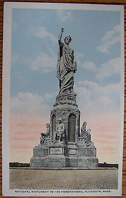 ~1925 FOREFATHERS MONUMENT, BURIAL HILL, LOT OF 2 PLYMOUTH, MA SALE!! POSTCARDS