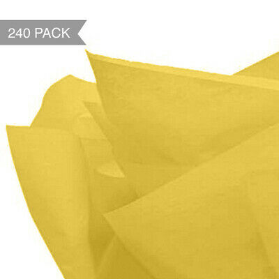 Gold Tissue Paper - Single Sided 500 x 760mm (Bulk 240 Sheets)
