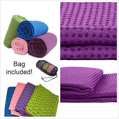 New Yoga Pilates Exercise Fitness Travel Towel Blanket Non-Slip Antibacterial