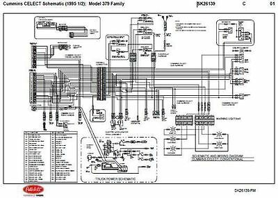 1995 5 peterbilt 379,357,375,377,378 cummins n14 celect wiring diagram  schematic