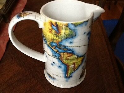 Stunning Pitcher GLOBE By Paul Cardew, Designed in England, Map