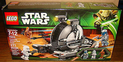 New LEGO 75015 Star Wars Corporate Alliance Tank Droid - Factory Sealed!