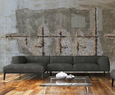 Old Concrete Wall 21' x 8' (6,40m x 2,44m)-Wall Mural