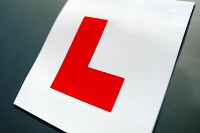 2 x Magnetic L plates - Learner Driver, Easy To Use, Secure Plates, Car Exterior