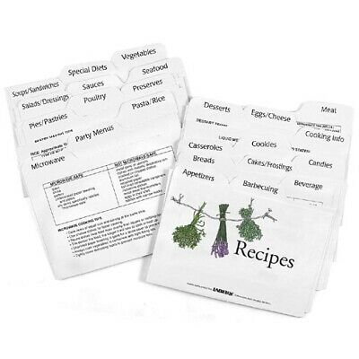 Labeleze Recipe Card Dividers 3 x 5