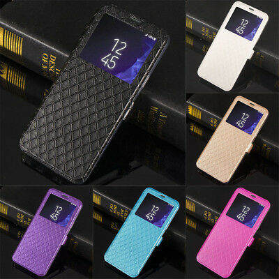 Flip Leather View Window Wallet Case Cover For Samsung Galaxy S10 S9 S8+ Note 9