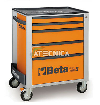 Carrello Mobile Beta Tools C24S 5/o Portautensili 5 Cassetti Arancio Orange